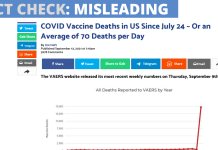 covid deaths VEARS fact check