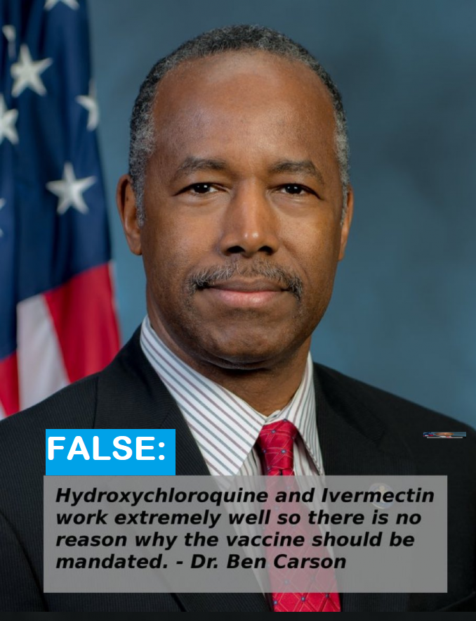 Ben Carson Claims Ivermectin Support